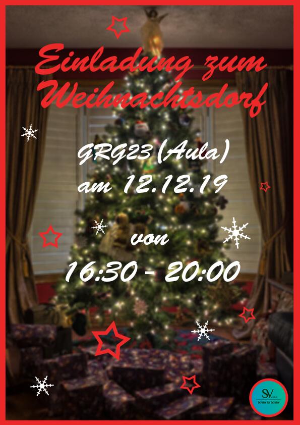 Einladung zum Weihnachtsdorf